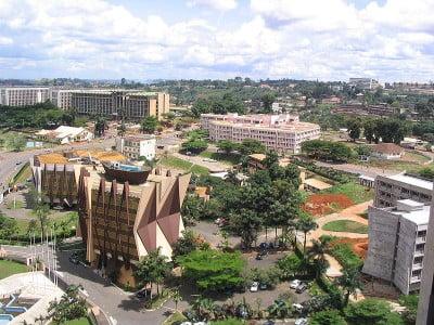 Fotos de Camerún Zona comercial de Yaoundé.