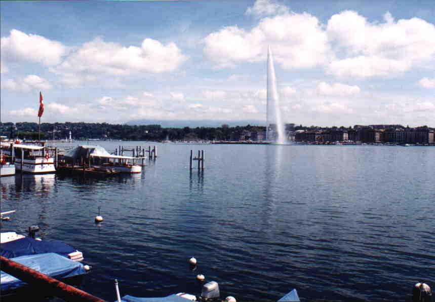 Fotos del muelle de Ginebra, en Suiza