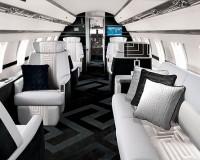 Fotos del interior del Jet privado