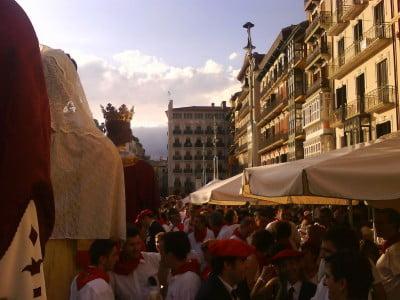 Gigantes y Cabezudos en Pamplona