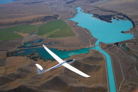 Glider en el Lago Ruataniwha, Nueva Zelanda, Aventuras