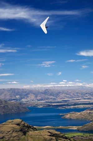 Glider sobre el lago Wanaka, Nueva Zelanda, Aventuras