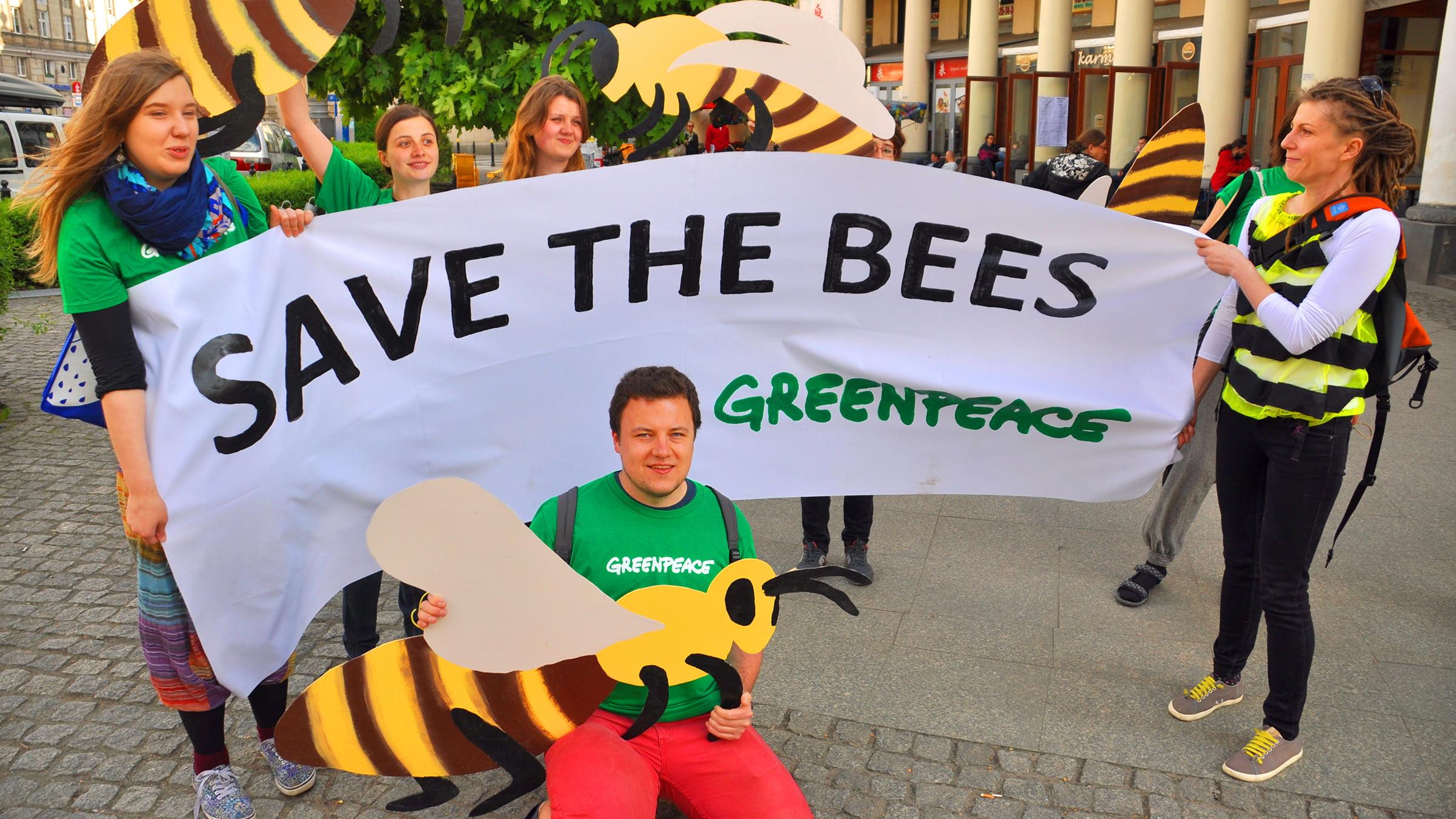 green peace protesta