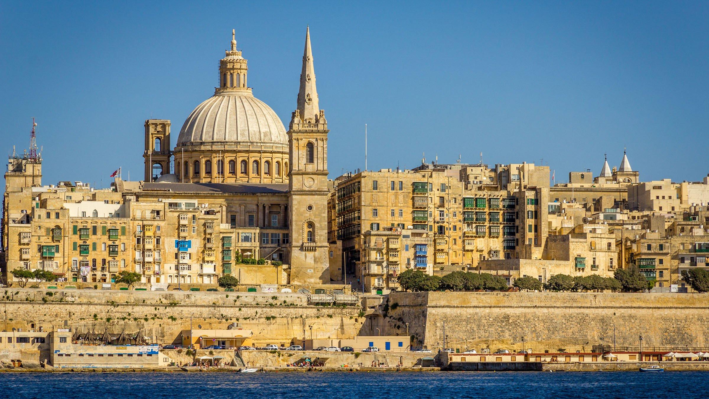 Catedral de San Pablo vista desde Sliema