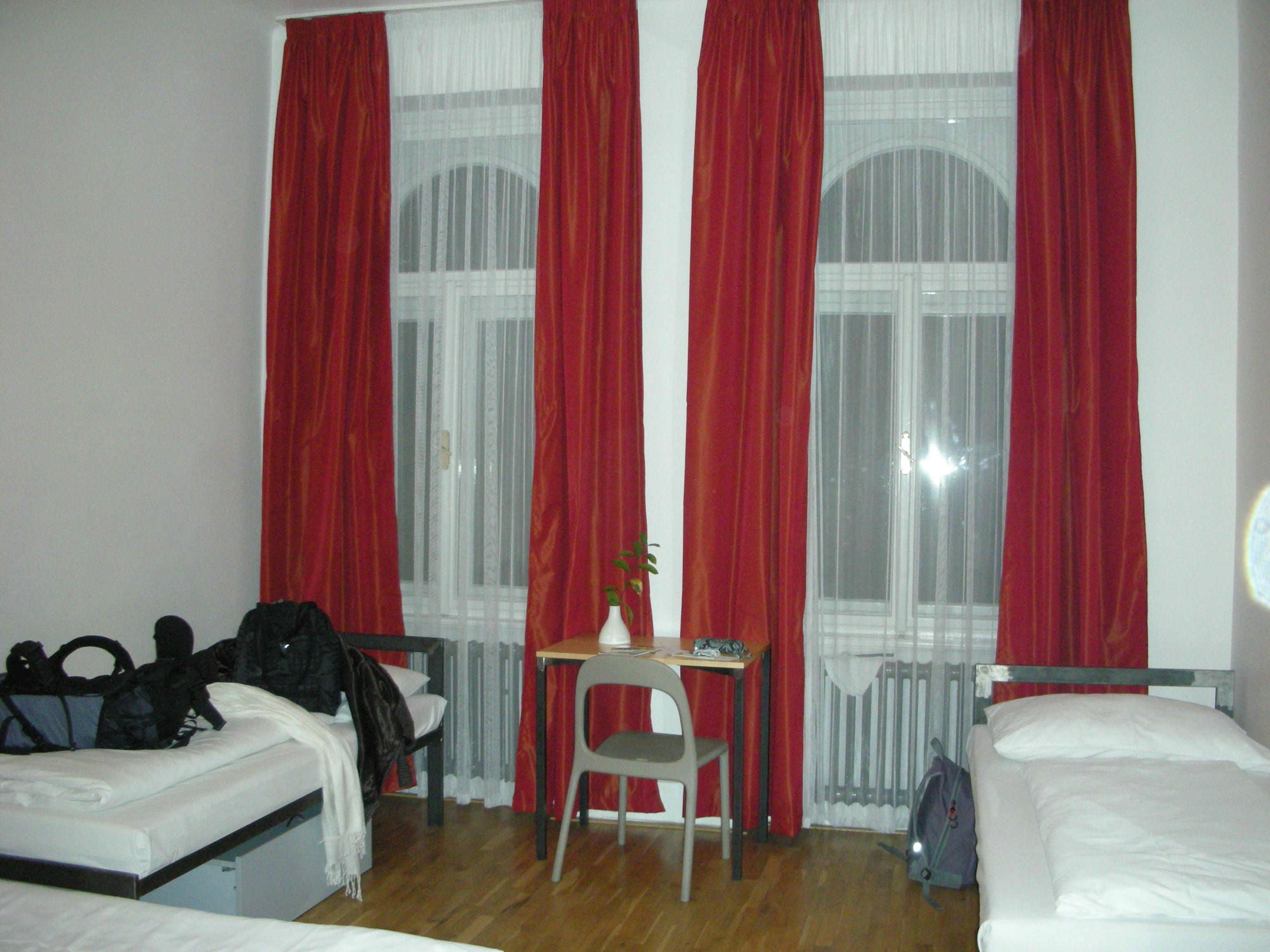 Habitacion de hostal de Praga