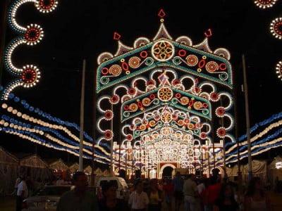 Iluminaciones de la feria en Huelva