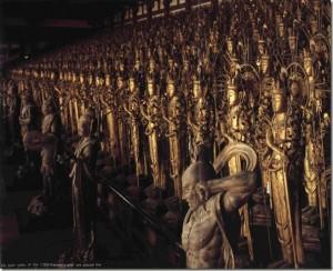 Imagen de las Figurillas en el Templo de Sanjusangen-do, Kyoto