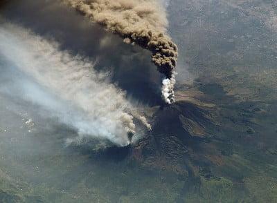 imagenes de volcanes erupción del volcán Etna