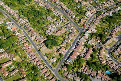 Inglaterra panorámica de casas en Brighton