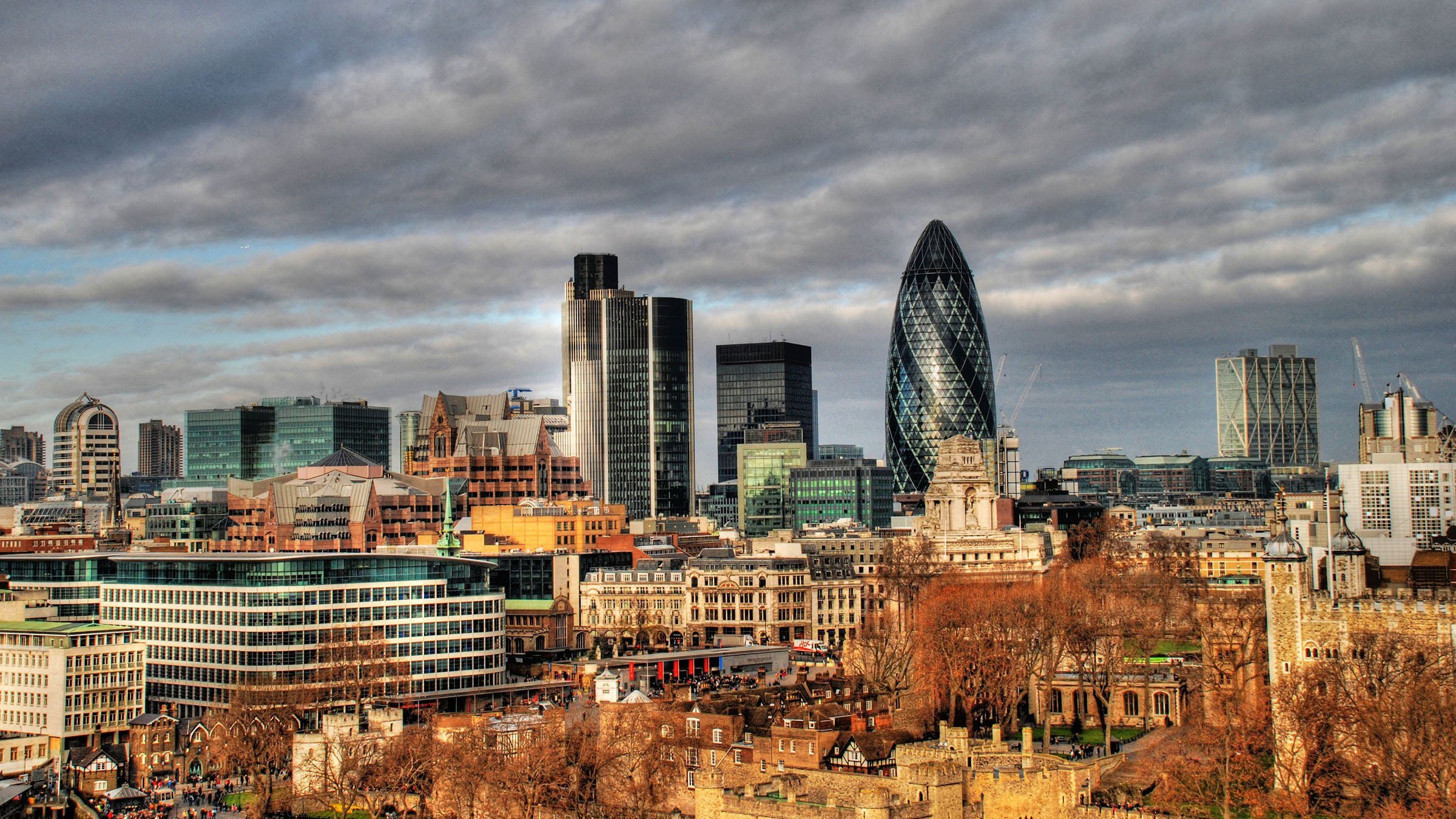 Inglaterra y su economía distrito financial de Londres