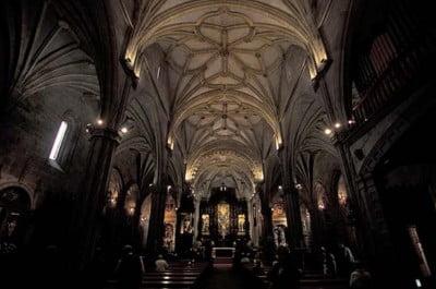 Interior de la Basílica Santa María, Pontevedra