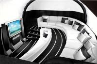 Interior del Jet privado