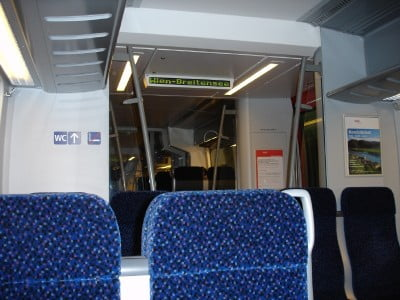 Interior del tren de Viena