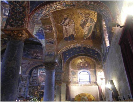 Interior de La Martonara en Palermo