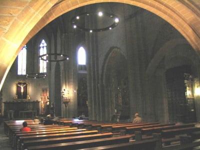 Interior de la Iglesia de San Nicolás en Pamplona