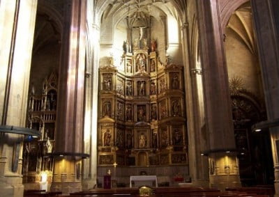 Interior Iglesia de San Vicente en San Sebastián