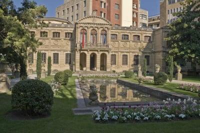 Jardines del Palacio de Navarra en Pamplona