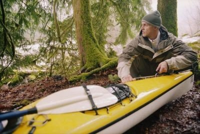 Kayak en Asturias descansando