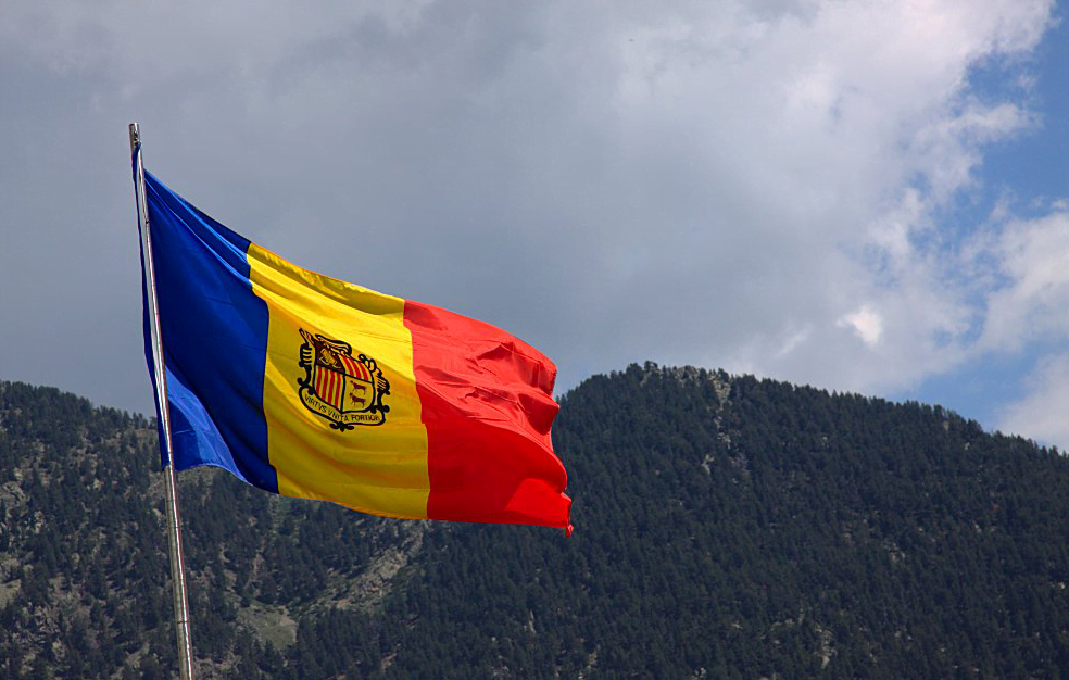 La bandera de Andorra