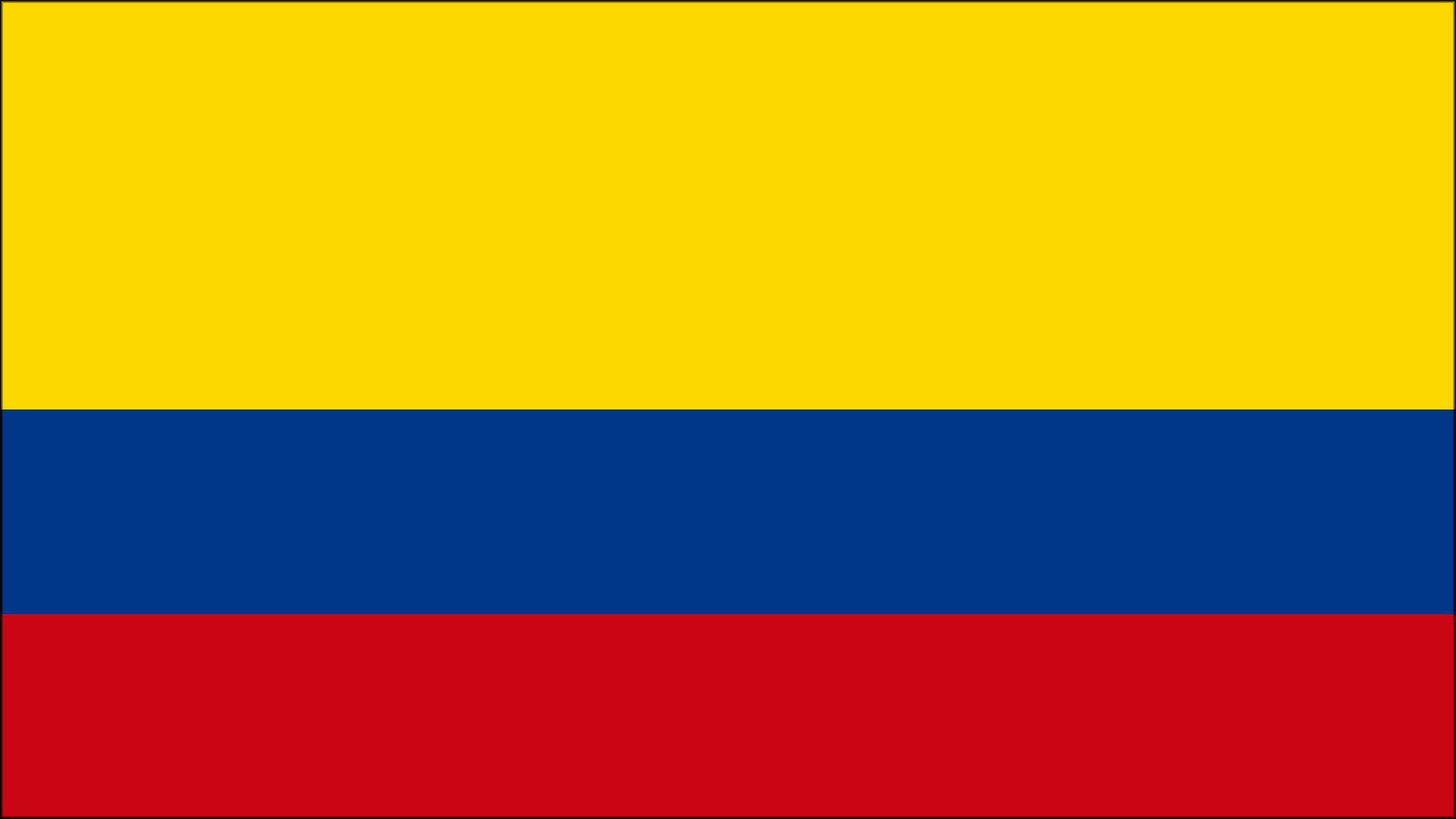 La bandera representativa de Colombia
