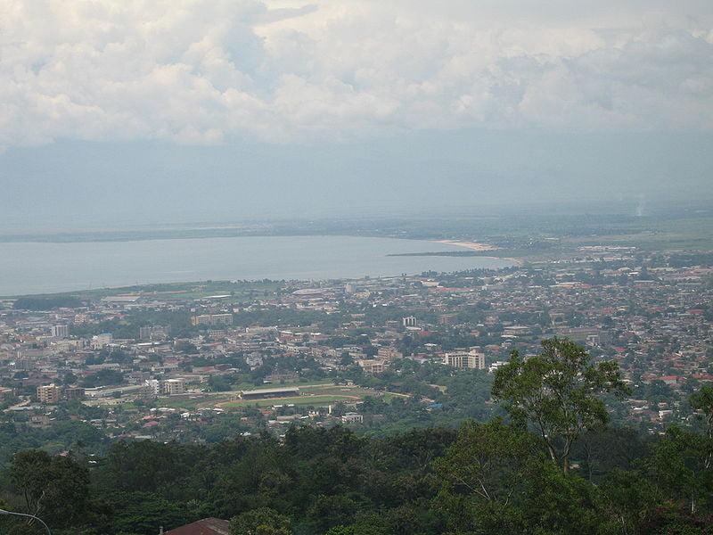 La capital de Burundi, vista de Buyumbura