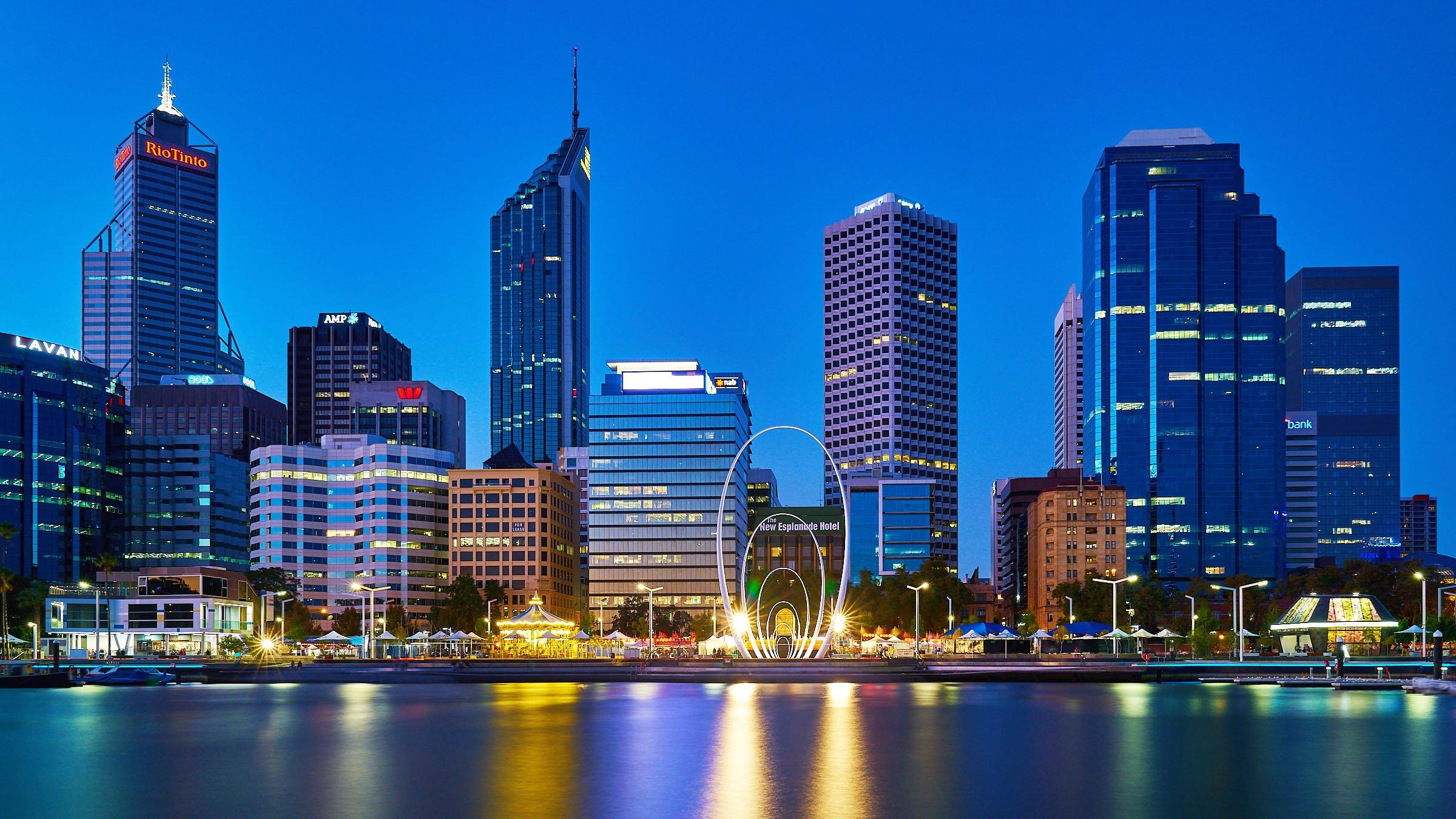 La ciudad de Perths en Australia