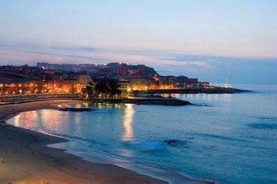 La costa en Galicia atardecer