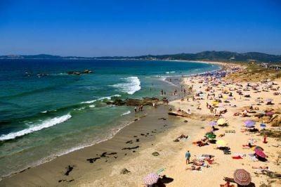 La costa en Galicia playa