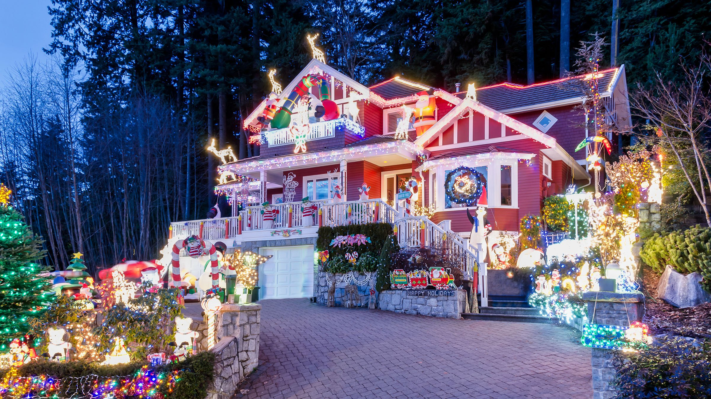 La decoraci n navide a en las casas canadienses - Casas canadienses en espana ...