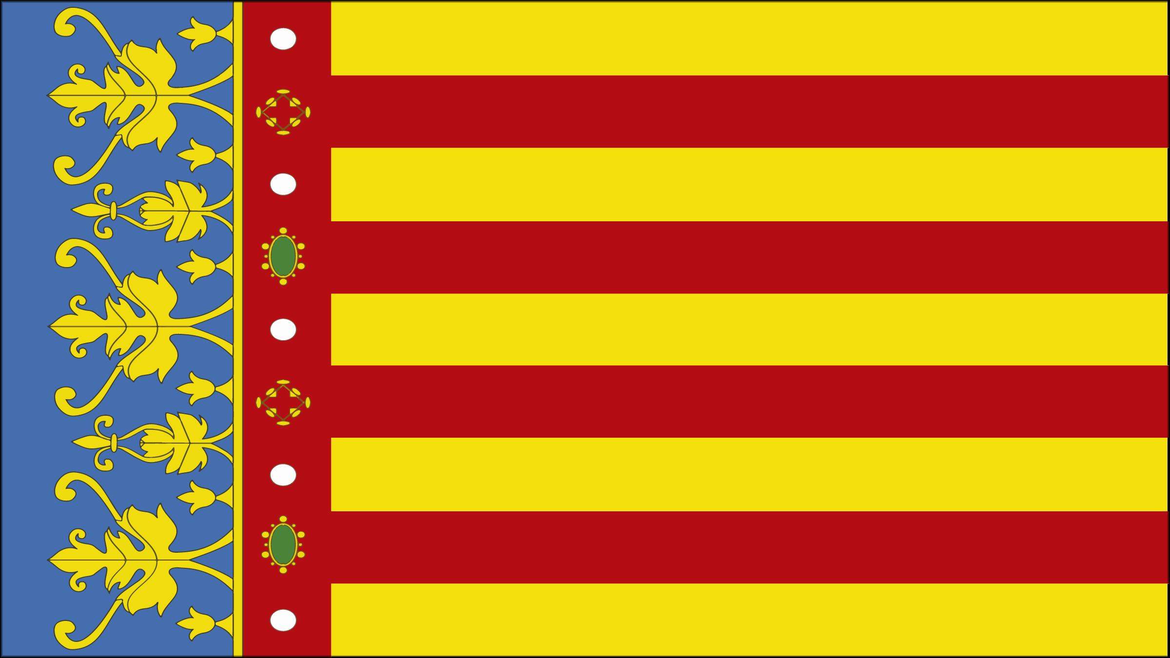 Resultado de imagen de bandera comunidad valenciana