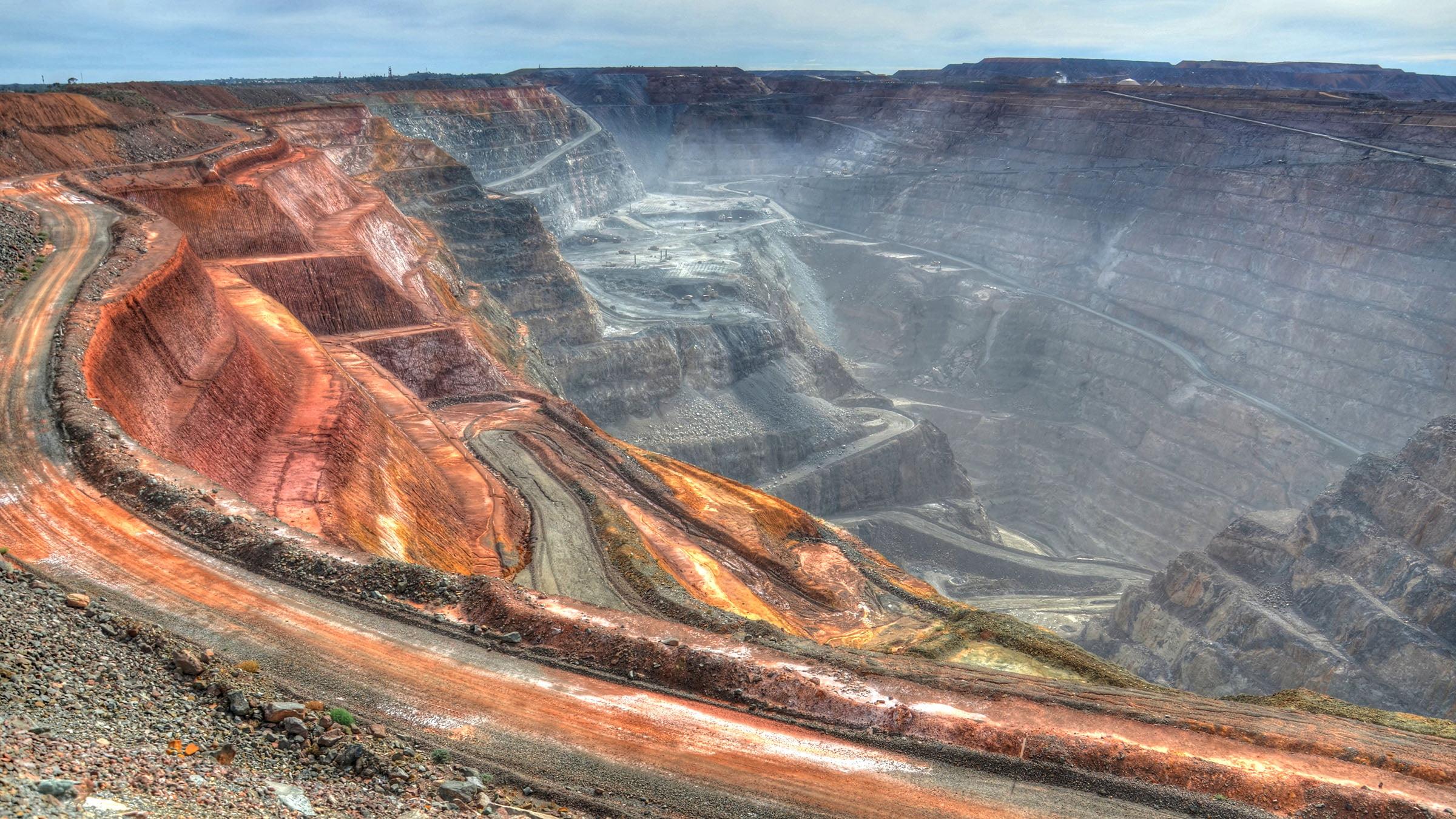 La mina en Kalgoorlie, una mina de oro en Australia.