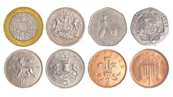 Las monedas de la libra esterlina