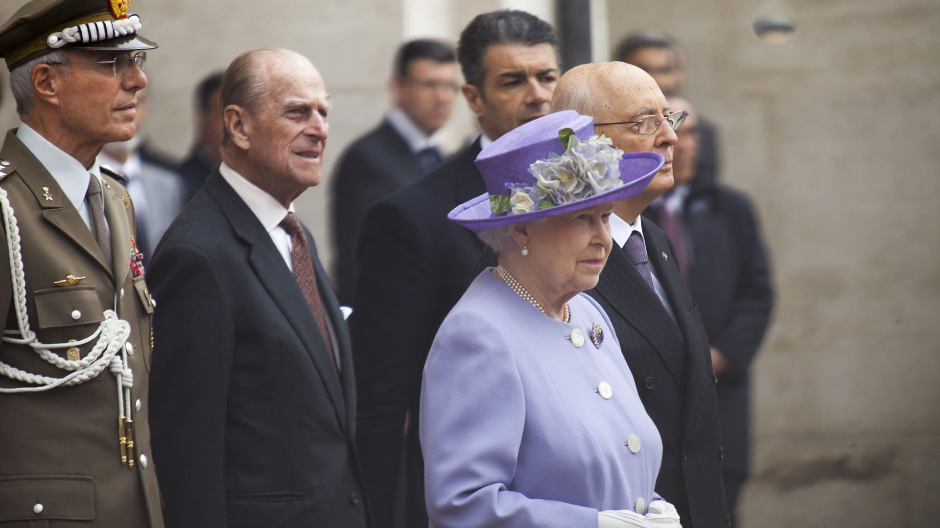 La reina de Inglaterra junto a su consorte Felipe de Edimburgo