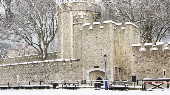 La Torre de Londres un día de nieve