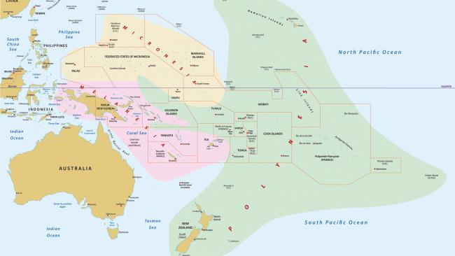 La Ubicacion De La Polinesia Francesa