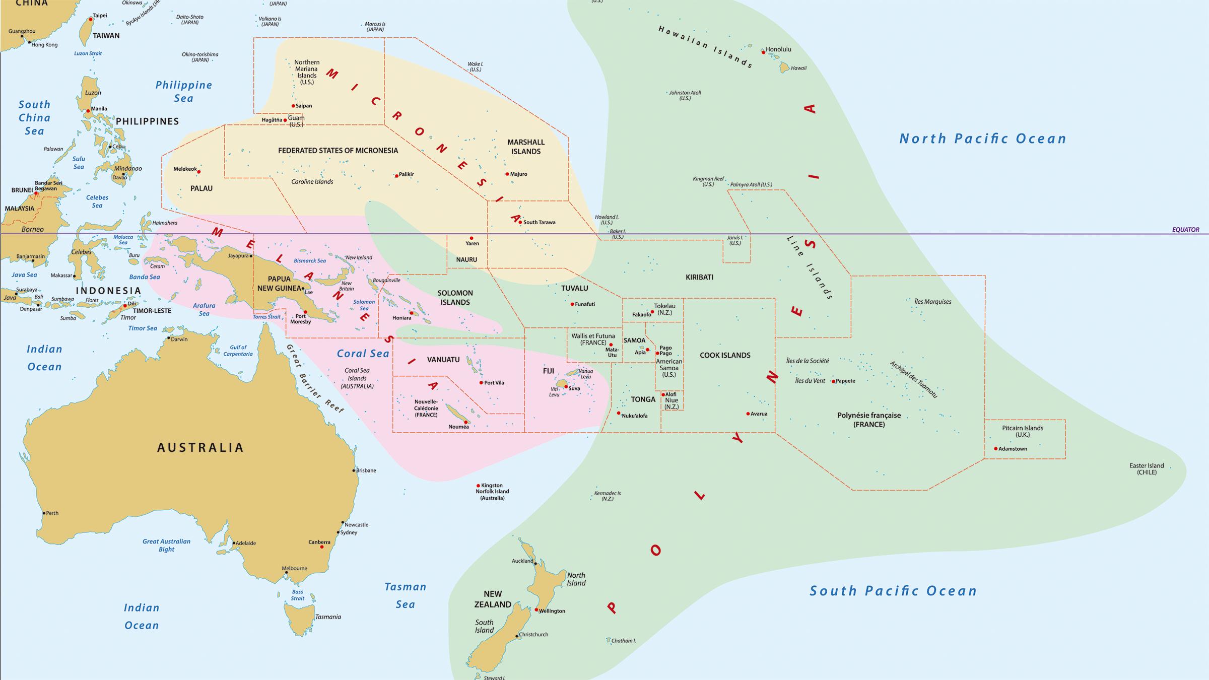 Mapa Polinesia Francesa Mapa Mundi