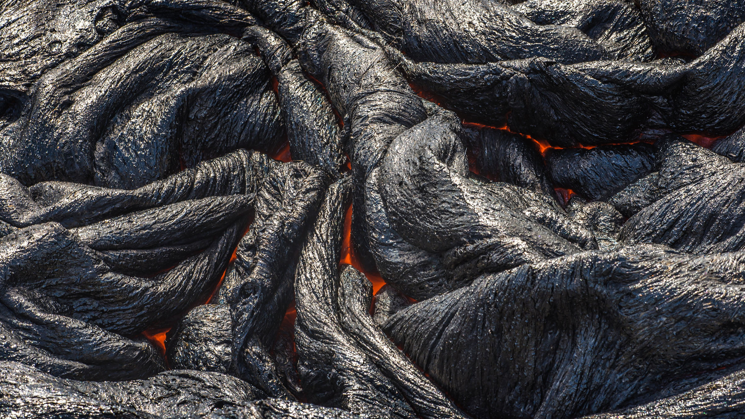 lava volcánica Pahoehoe