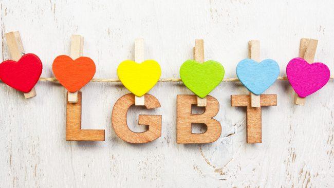 As cores da bandeira gay