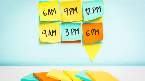 Los horarios del día a día inglés