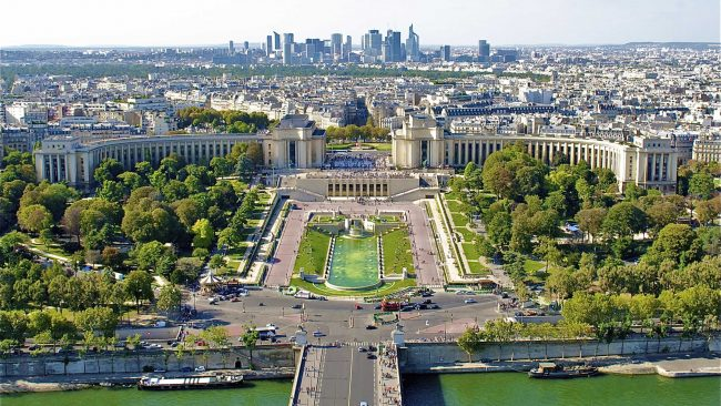 Die Trocadero-Gärten in Paris