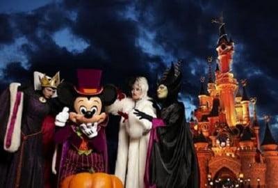 los parques temáticos en halloween