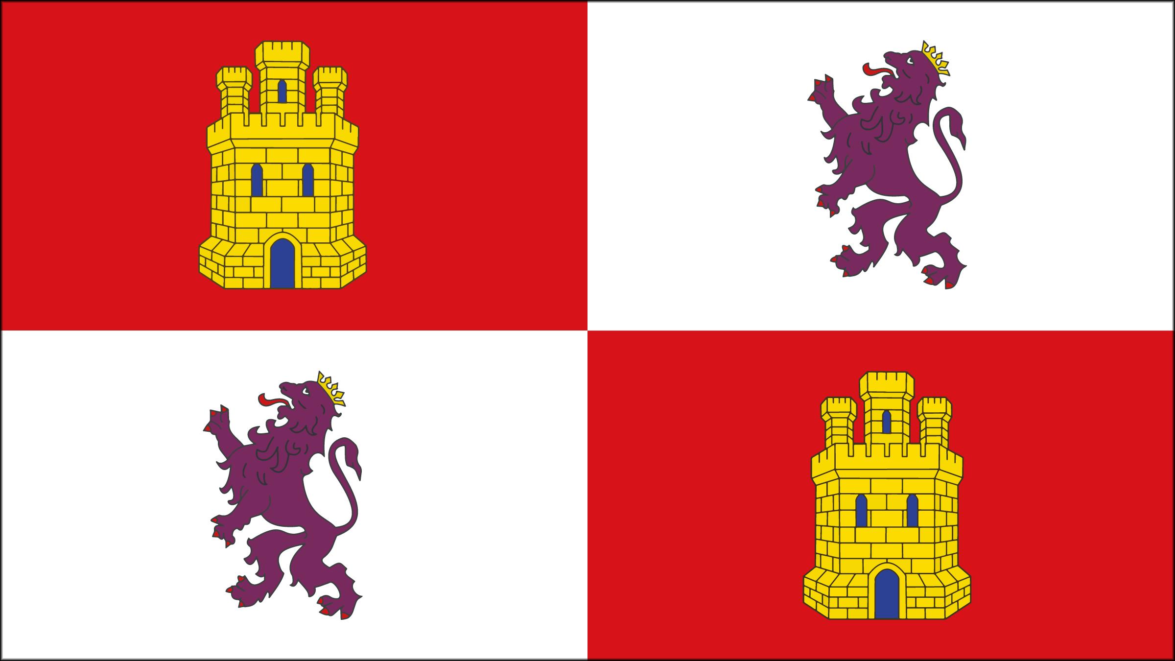 Los símbolos de la bandera de Castilla y León