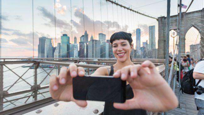 Los viajeros en Nueva York y la información turística