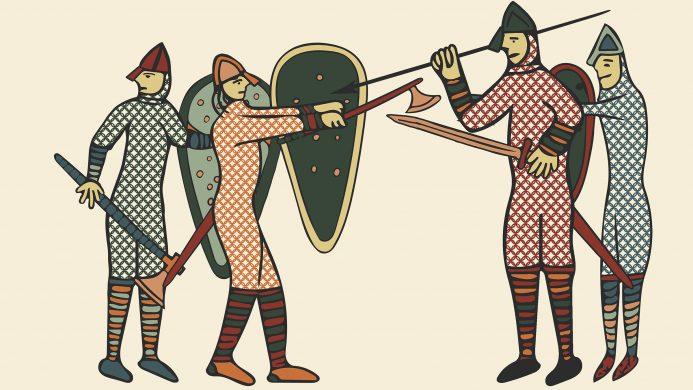 lustración de soldados durante la batalla de Normandía