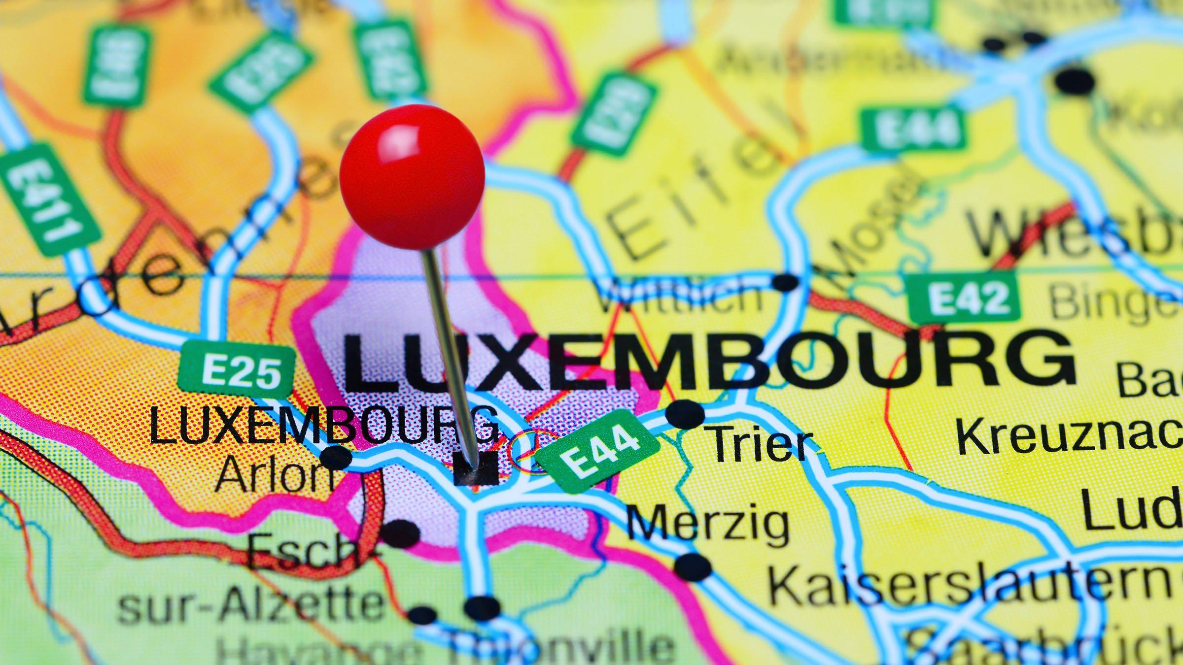 Mapa Politico De Luxemburgo