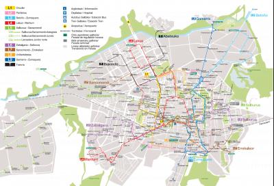 Mapa del autobús de Vitoria