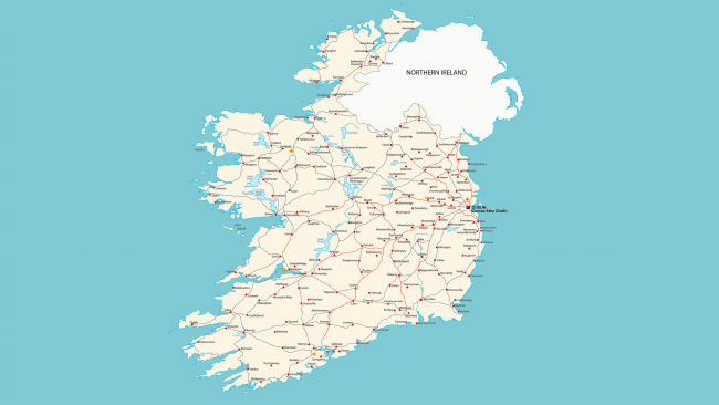 Mapa hidrogrfico de Irlanda