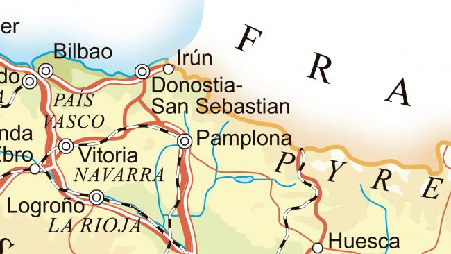 Mapa De Navarra Carreteras.Mapa De Las Carreteras De Navarra