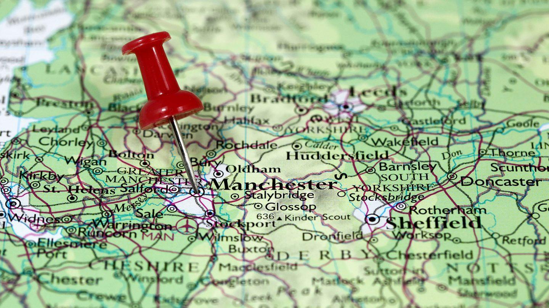 manchester inglaterra mapa Mapa de Manchester   Inglaterra manchester inglaterra mapa