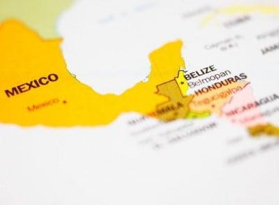 mapa de Belice Centro América